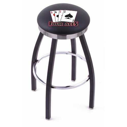 "Holland Bar Stool Gambling 30"" Swivel Bar Stool with Cushion"