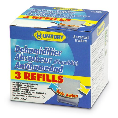 Humydry Refill Unscented Moisture Absorber - 15.9-oz. / 3 per Pack
