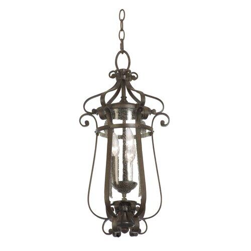 Kalco Hartford 3 Light Outdoor Hanging Lantern