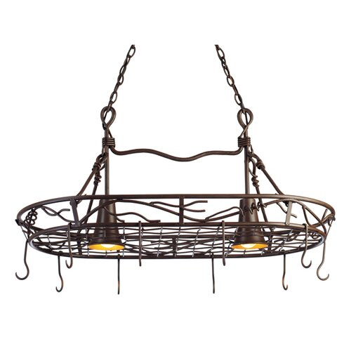Vine 2 Light Hanging Pot Rack