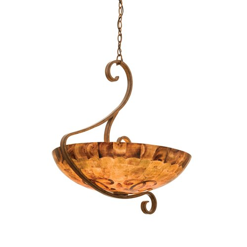 Kalco G-Cleft 5 Light Bowl Inverted Pendant