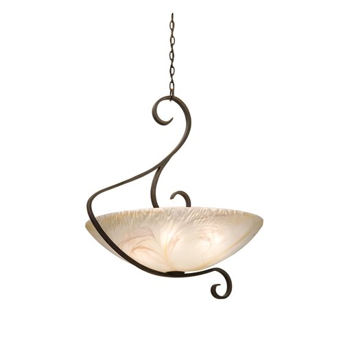 G-Cleft 6 Light Bowl Inverted Pendant