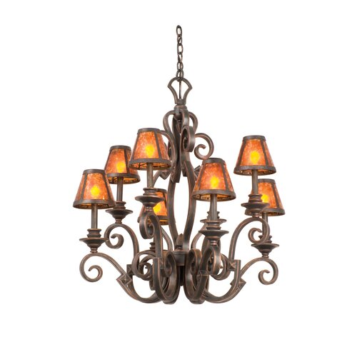 Kalco Ibiza 8 Light Chandelier with Mica Shade