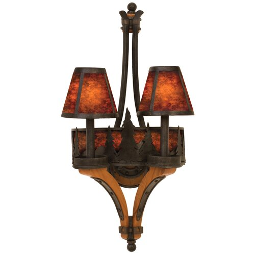 Kalco Aspen 2 Light Wall Sconce