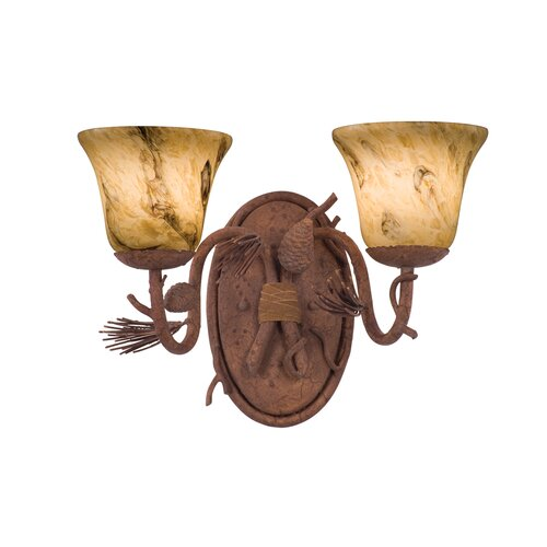 Kalco Ponderosa 2 Light Bath Vanity Light
