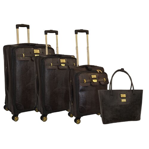 Adrienne Vittadini Sutton Place 4 Piece Luggage Set