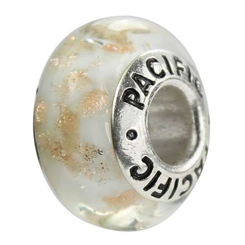 West Coast Jewelry Pacific 925 Murano Brown Sugar Glass Bead