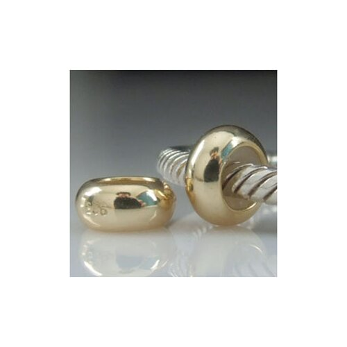 Gold Plated Stopper Bead