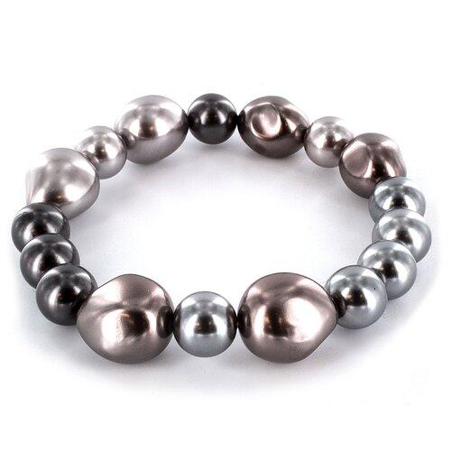 West Coast Jewelry Glass Cultured Pearls on Stretch Bracelet