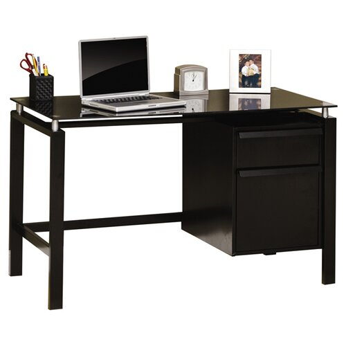 Studio RTA Lake Point Computer Desk with Glass