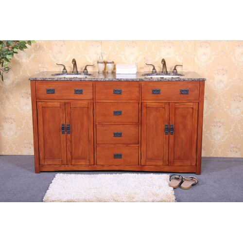 "Legion Furniture 60"" Double Bathroom Vanity Set"