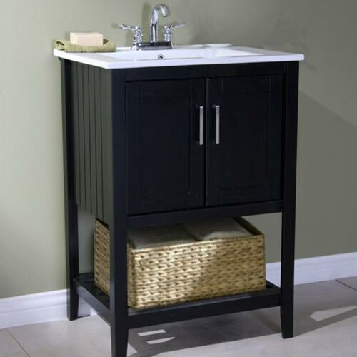 Legion Furniture 24 Single Bathroom Vanity Set With Basket Reviews Wayfair
