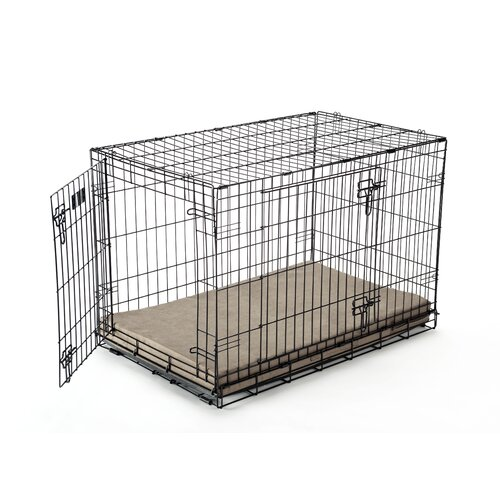 Luxury Memory Foam Dog Crate Pad with Suede Microfiber Cover