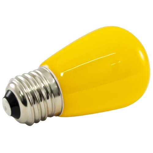 120 Volt Outdoor Led Light: 1.4W Yellow Frosted 120-Volt LED Light Bulb