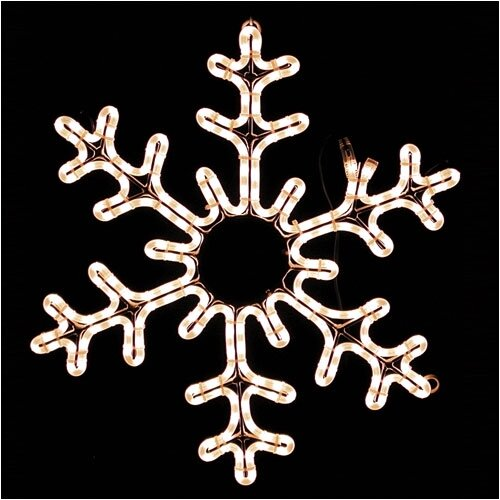 American Lighting LLC Holiday Motifs Snowflake Outdoor Lighting Rope Light