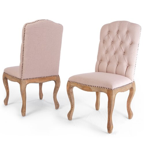 Winston Weathered Hardwood Studded Dining Chairs