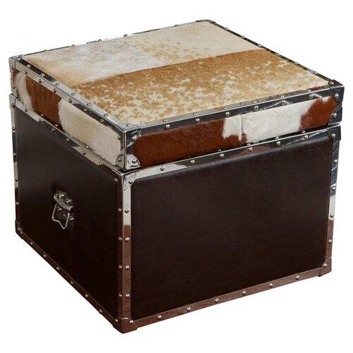 Arizona Glendale Cowhide Storage Cube Ottoman