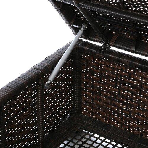 Home Loft Concept Auckland Wicker Storage Ottoman