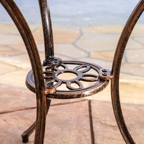 Home Loft Concept Enrique 3-Piece Cast Aluminum Bistro Set