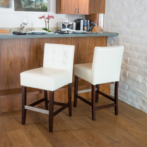 Home Loft Concept Christie 2pk KD Tufted Counter Stool (Set of 2)