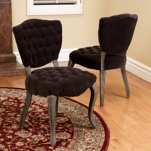 Home Loft Concept Yates Tufted Fabric Dining Chairs (Set of 2) (Set of 2)