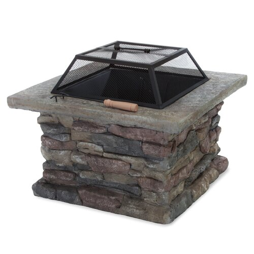 Home Loft Concept Seymour Natural Stone Square Fire Pit