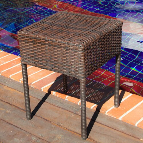 Home Loft Concept Anchorage Wicker Outdoor Accent Table