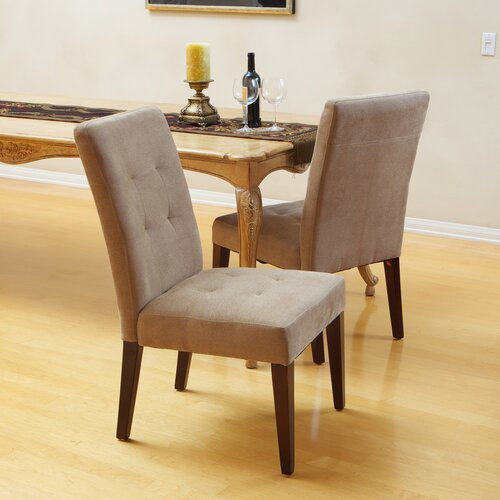 Talib Tufted Leather Dining Chair (Set of 2)