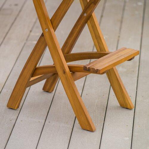 Home Loft Concept Banyard Foldable Outdoor Wood Barstool