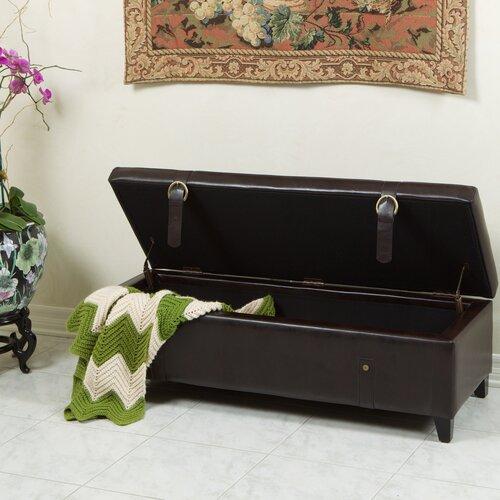 Home Loft Concept Stanford Leather Storage Ottoman