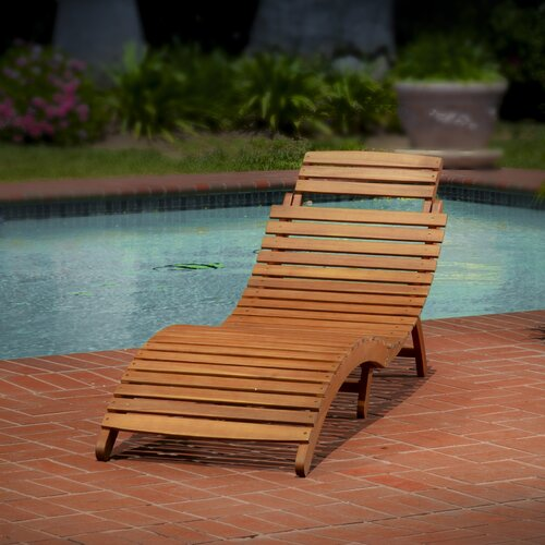 Home Loft Concept Molokini Wood Outdoor Chaise Lounge
