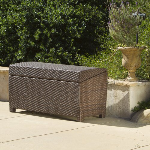 Home Loft Concept Managua 70 Gallon Outdoor Wicker Storage Bench Reviews Wayfair