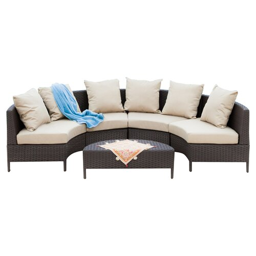 Home Loft Concept Hanna 5 Piece Seating Group With Beige