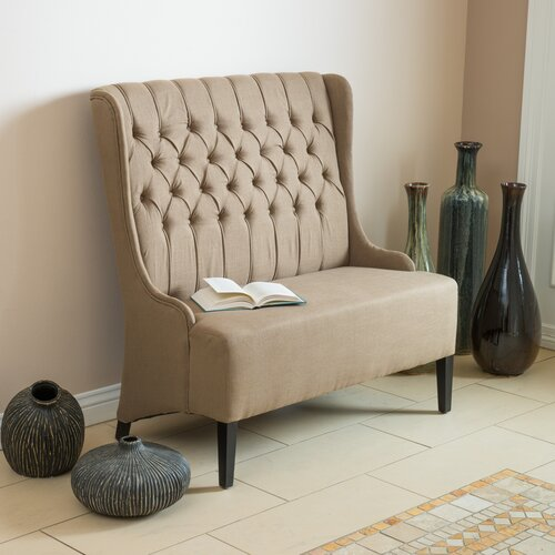 Memling Button Tufted Wingback Loveseat