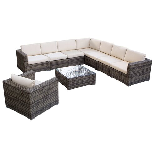 Home Loft Concept Moroni 9 Piece Deep Seating Group With