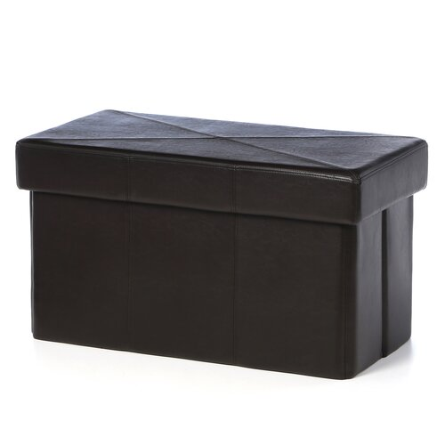 Home Loft Concept Malik Leather Storage Ottoman