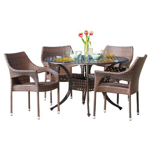 Leyla 5 Piece Fabric Modular Sectional Living Room Set Blue: Home Loft Concept Leila 5 Piece Dining Set & Reviews
