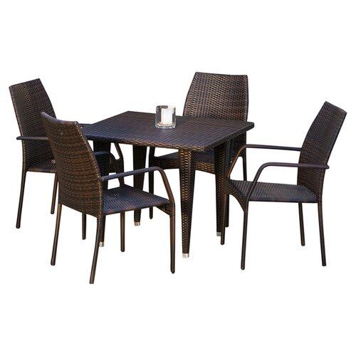 Home Loft Concept Ventura 5 Piece Outdoor Dining Set
