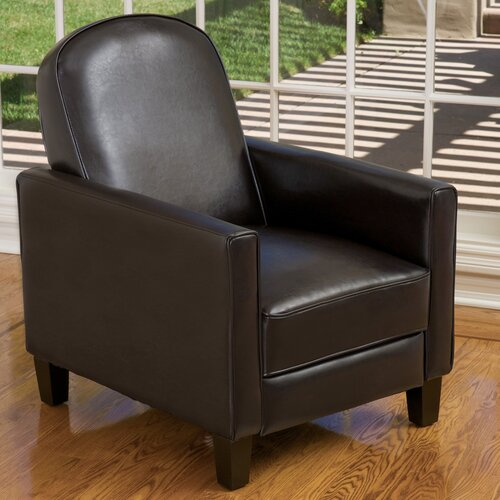 Home Loft Concept Gilleslee KD Recliner in Espresso Faux Leather