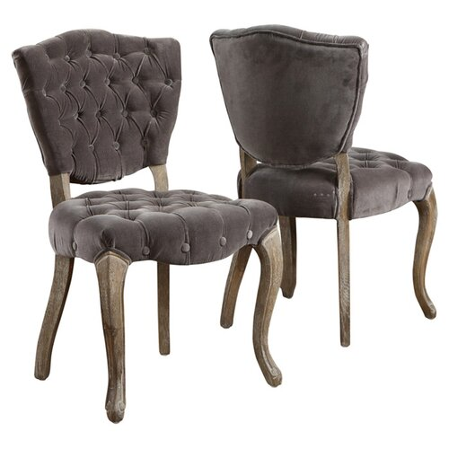 Home Loft Concept Yates Tufted Fabric Dining Chairs (Set of 2)