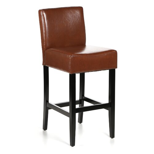 Home Loft Concept Georgia Leather Bar Stool (Set of 2)