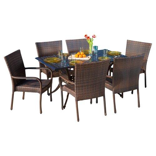 Home Loft Concept Caden 7 Piece Dining Set Reviews Wayfair