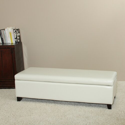Home Loft Concept Bailey Bonded Leather Storage Ottoman Bench