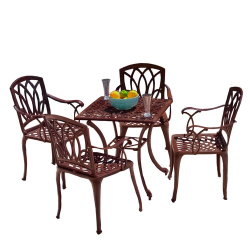 Home Loft Concept Stephane 5-Piece Outdoor Table and Chair Set