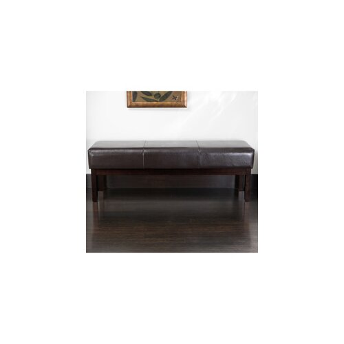 Home Loft Concept Fronteza Bonded Leather Ottoman Bench