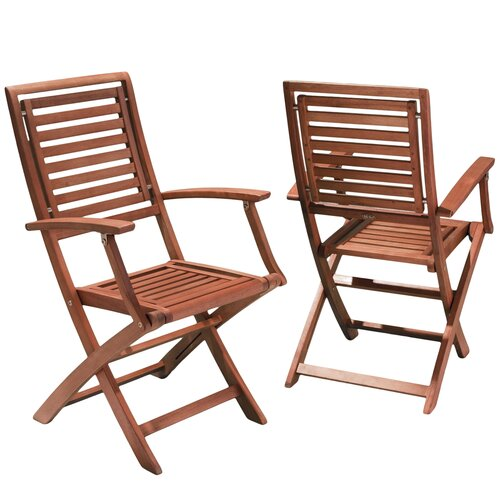Home Loft Concept Heartland Hard Wood Outdoor Chairs (Set of 2)