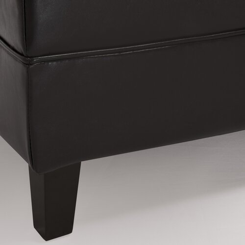 Home Loft Concept Alice Leather Bench Ottoman