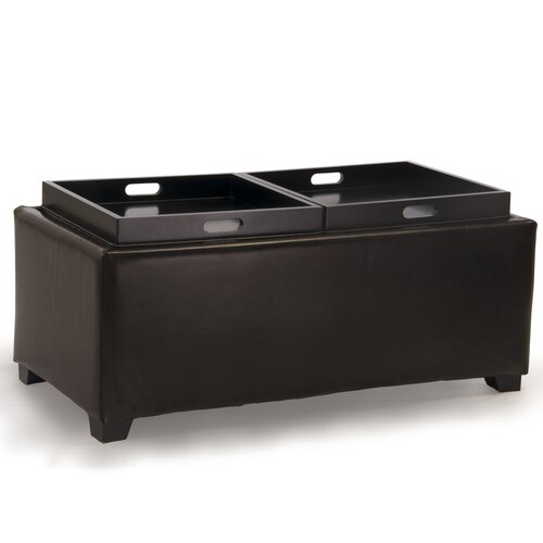 Home Loft Concept Maxwell Double Tray Cocktail Ottoman