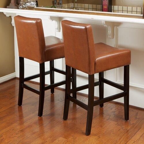 Home Loft Concept Develin Leather Counterstools