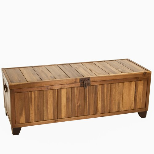 Jada Wood Storage Ottoman Bench